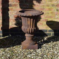 Garden Feature Stathern Urn, Rust - 63cm