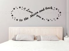 I love you to the moon and back infinity wall decal, wall sticker, decal, wall graphic, bedroom decal, vinyl decal, vinyl graphic decal