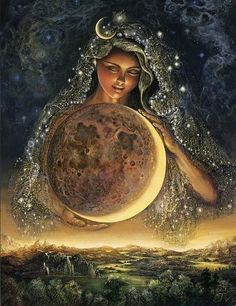 'Moon Goddess' by Josephine Wall.