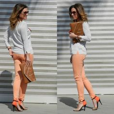 Soft Orange (by TAMARA MOLINA) http://lookbook.nu/look/3507175-Soft-Orange  I have everything for this outfit but the pants.