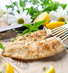 low carb rezepte zum abendessen mit fisch gebacken nüsse kruste