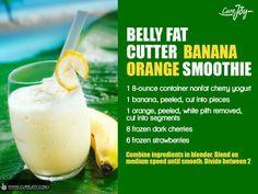 Belly fat cutter banana orange smoothie