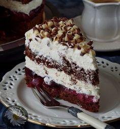 Kulinarne Szaleństwa Margarytki: Wiśniowa fantazja (torcik z wiśniami) Cheesecake Recipes, Dessert Recipes, Desserts, Sweet Recipes, Healthy Recipes, Amazing Cakes, Food Inspiration, Food And Drink, Birthday Cake