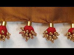 Saree Tassels Designs, Saree Kuchu Designs, Wedding Saree Blouse Designs, New Blouse Designs, Saree Wedding, Fashion Sewing, Women's Fashion, Simple Sarees, Easy Work