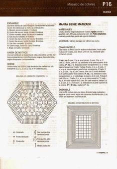 Artesanato com amor...by Lu Guimarães: Colcha em crochê hexágonos com gráfico
