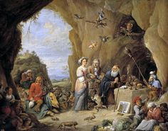 The Temptation Of St. Anthony Painting by David Teniers