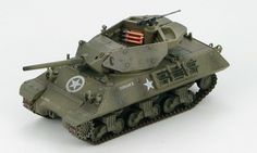 "Hobby Master - 1:72 Ground Power Series    M10 Tank Destroyer Duckbill, ""Corsair II"", US Army, France 1944    Ready made diecast model, scale 1:72, length: 95mm."
