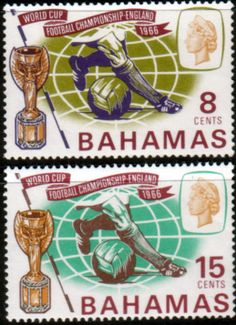 Bahamas 1966 Football World Cup Set Fine Mint                    SG 288 9 Scott 245 6 Other West Indies and British Commonwealth Stamps HERE!