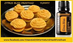Here is another summer cupcakes solution! Of course, what is better on hot days then some citrus flavor. These orange cupcakes use both zest and juice to give Summer Cupcakes, Orange Cupcakes, Sweets Cake, Cupcake Cakes, Doterra Citrus Bliss, Cooking With Essential Oils, Doterra Recipes, Recipe Using, Cooking Recipes