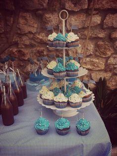 Bautizo Pol, niño. Pastel, cakepops y cupcakes! Nuestro toque dulce!!! #cakepops #cupcakes #cake #pastel #sibarum #pasteleria