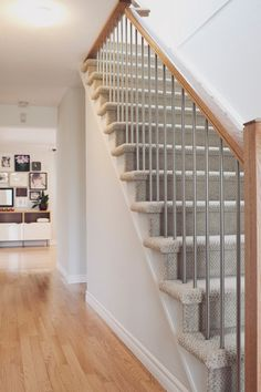 Steel Spindles And Square Handrails Combine For A Modern Take On A  Traditional Bannister. Desire