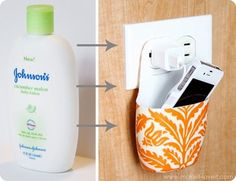 Lotion container into an outlet storage solution