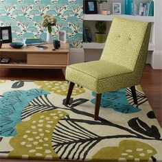 Sanderson home treetops rugs 23207 in teal and linden buy online from the rug seller uk Home Rugs, Furniture Styles, Modern Rugs, Modern Living, Colour Schemes, Floor Rugs, Home Collections, Soft Furnishings, Rugs Online
