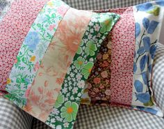 Hotchpotch Vintage Patchwork Stripes No. 2 by gillyflowerdesigns