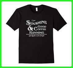 Mens Running, Coffee, Novelty Funny TShirt, T Shirt, T-Shirt Small Black - Food and drink shirts (*Amazon Partner-Link)