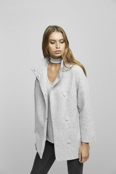 Shop the Poppy Coat in Grey   Black off in Boutiques   Online! 27637d475