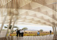 New images and movie of Konza Techno City masterplan in Kenya by SHoP Architects. Shop Architects, Interior Ceiling Design, Architectural Sculpture, Roof Structure, Beautiful Buildings, New Image, Pavilion, Kenya, Modern Architecture