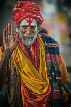 Sadhu ascetic holy man, Uttar Pradesh, Varanasi, India