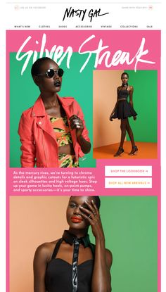 Nasty Gal's very visually compelling email
