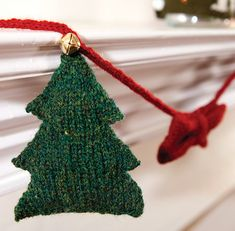Ravelry: Trees and Bows Garland pattern by Anna Elliott
