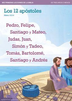 Los 12 apóstoles   Mis primeras lecciones de la Biblia