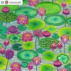 This is a work of art @kokokat8! #Repost @kokokat8 with @repostapp ・・・ This page was very soothing to color. Can't decide if I should do the opposite page the same or a different variation of colours? #milliemarotta #zen #watergarden #prismacolor #fabercastell #adultcoloringbook #adultcolouring ● ● ● #adultcoloringbooks #color #colors #colorful #adultcoloring #adultcoloringph #coloriage #adultcoloringbook #coloringforadults #coloringbookforadults