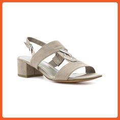 Marco Tozzi Womens Taupe Block Heeled Sandal - Size 38 / 7 US - Beige - Sandals for women (*Amazon Partner-Link)