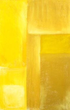 Yellow Cubism Painting