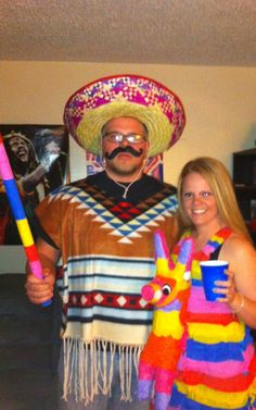 Mexican & Pinata. best couple costume ever