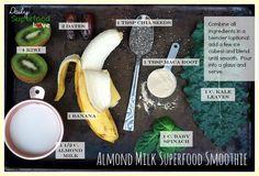almond milk superfood smoothie