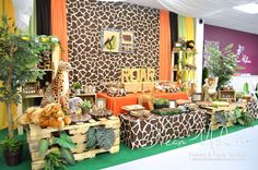 Dream Makers Events & Party Rentals 's Birthday / Jungle Safari - Photo Gallery at Catch My Party Safari Theme Birthday, Jungle Theme Parties, Jungle Party, Safari Party, Animal Birthday, 1st Boy Birthday, Boy Birthday Parties, Mickey Safari, Lion King Baby Shower