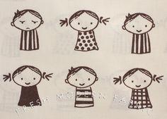 Fat Quarter So Happy Kids by Puti de Pome for Kiyohara Fabrics. $6.00, via Etsy.