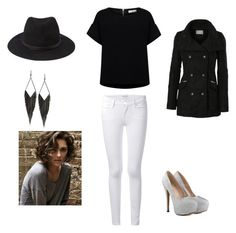 """""""Mystery dinner"""" by langlandsbecca ❤ liked on Polyvore featuring Frame Denim, Essentiel, Forever 21, LE3NO and GUESS"""