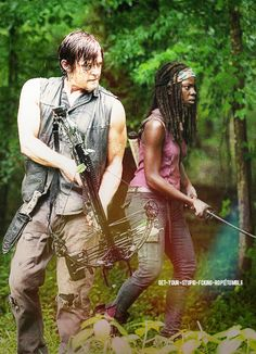 Daryl & Michonne the two most badass mamajamas on TWD Best Tv Shows, Best Shows Ever, Favorite Tv Shows, The Walking Dead 2, Walking Dead Season, Series Movies, Movies And Tv Shows, Mejores Series Tv, Dead Man