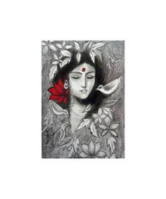 How do you draw Radha Krishna paintings? Lord Krishna Sketch, Krishna Drawing, Krishna Painting, You Draw, Learn To Draw, Cool Drawings, Pencil Drawings, Bal Krishna, Step By Step Drawing