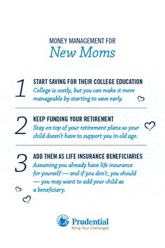 The birth of a child is exciting but also financially daunting. Here are a few financial tips to help you on your journey as a new mom.
