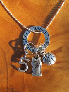 Items similar to Basketball - I Love Basketball Necklace- Personalize - Choose any Team Number - Great Gift for any Basketball Player or Coach on Etsy Tenis Basketball, Basketball Is Life, Basketball Skills, Basketball Quotes, Basketball Gifts, Basketball Players, Girls Basketball, Basketball Pictures, Basketball Floor