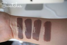 BROW TAUPE GREY LIPS - Swatches dupes Mac Stone Coloured Raine Soul Anastasia Beverly Hill Sepia Nyx matte Maison