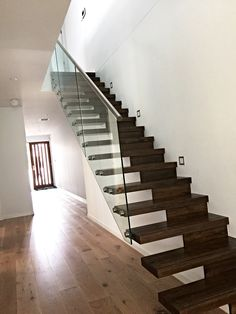 When you need stylish, secure glass balustrades constructed at your Melbourne home or workplace, get in touch with the team at Tough N Glass. Frameless Glass Balustrade, Melbourne House, Glass Door, Stairs, Construction, Home Decor, Building, Stairway, Decoration Home