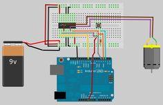 Tutorial sobre como utilizar motor DC com L293D (ponte-H) e Arduino