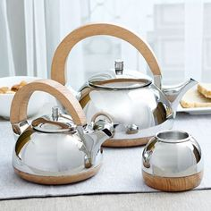 Arttd'inox Xylem Range Tea Set of Three Pieces,Coffee & Tea Sets