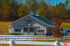 Morton Buildings horse barn in Iowa.
