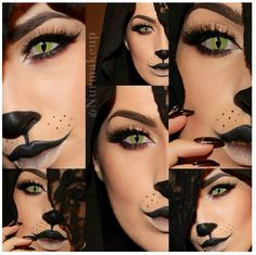 Cat Halloween makeup & SFX contact lenses