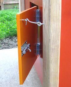 Hook to hold chickens' pop door on coop