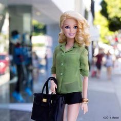 """Cruising down Robertson for a little fall shopping, time to update my wardrobe! #barbie #barbiestyle"""