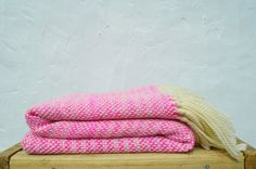 Neon Pink handwoven wool wrap merino wool by TexturableDecor, $155.00