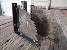 Awesome Saw Blade Shelf Brackets by ScrapyardArt on Etsy