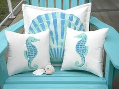 Welcome to Beach Living! We bring the best beach and coastal style from across the web into one great place. Beach Inspired, Beach Living, Pillows, Cottage Decor, Beach Themes, Outdoor Pillows, Coastal Pillows, Beach Cottage Decor, Beach Pillows