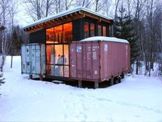 1000 images about shipping container upcycled on pinterest shipping container cabin - Hive modular x line container home in canada ...