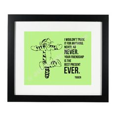 Tigger Winnie the Pooh Quote Printable with by jillmarie7276, $4.99